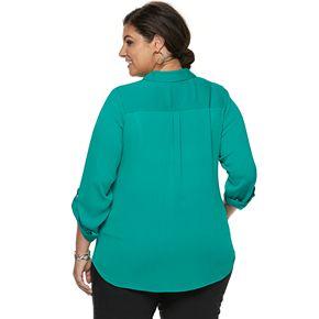 Plus Size Apt. 9® Georgette Blouse