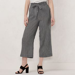 Women's LC Lauren Conrad Wide-Leg Cropped Pants
