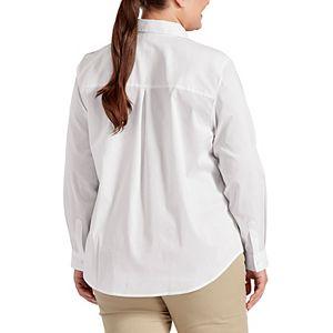 Plus Size Dickies Stretch Poplin Work Shirt