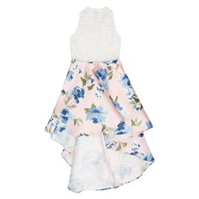 Girls 7-16 & Plus Size Speechless Lace Floral High-Low Maxi Dress