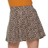 Junior's SO® 1/4 Zip Front Skater Skirt