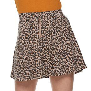 Junior's SO® 1/4 Zip Front Skater Skirt