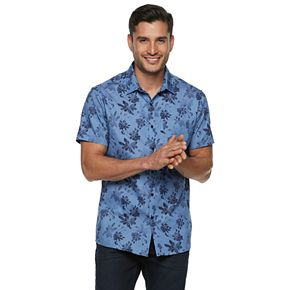 Men's Marc Anthony Slim-Fit Patterned Button-Down Shirt