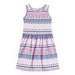 Toddler Girl Carter's Geo Printed Jersey Dress