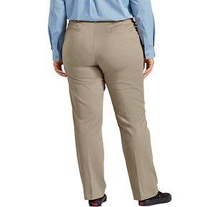 Plus Size Dickies Perfect Shape Straight-Leg Twill Pants