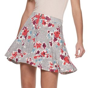 Juniors' SO® Zip-Front Skater Skirt