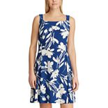 Women's Chaps Floral Fit & Flare Tank Dress