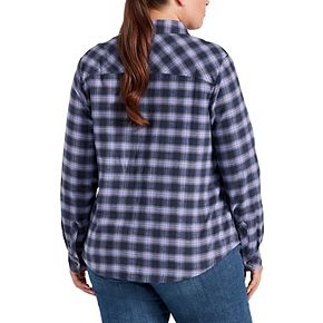 Plus Size Dickies Plaid Brushed Flannel Shirt