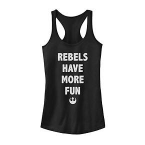 Juniors' Star Wars Rebels Have More Fun Logo Word Stack Tank