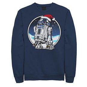Juniors' Star Wars R2-D2 Santa Hat Circle Portrait Fleece
