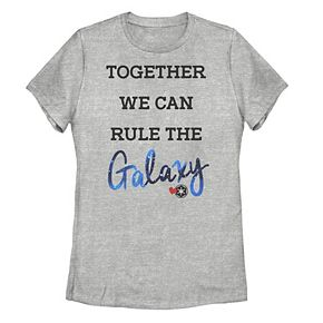 Juniors' Star Wars Together We Can Rule The Galaxy Cursive Text Tee