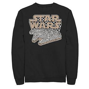 Juniors' Star Wars Millennium Falcon Checkered Portrait Fleece