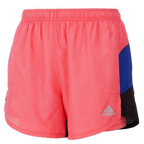 Girls 7-16 adidas Perforated Colorblock Shorts