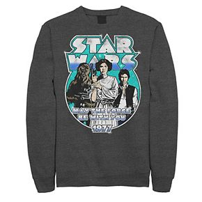 Juniors' Star Wars Vintage Circle Portrait Logo Fleece