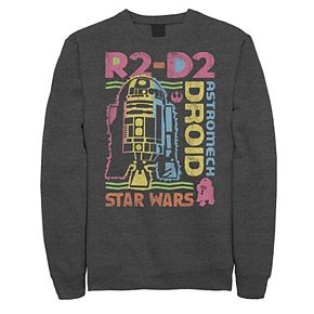 Juniors' Star Wars R2-D2 Colorful Outline Word Collage Fleece