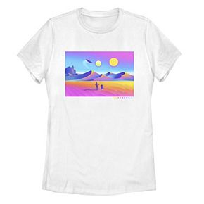 Juniors' Star Wars Trippy Tatooine Portrait Panel Tee