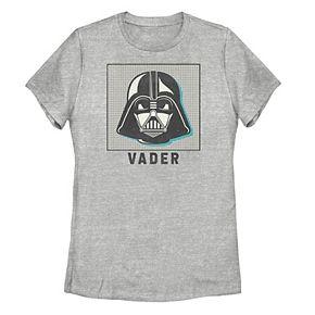 Juniors' Star Wars Darth Vader Head Shot Logo Tee