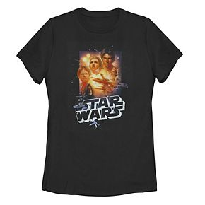 Juniors' Star Wars Character Collage Tee