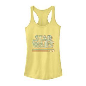 Juniors' Star Wars Retro 1977 Striped Logo Tank