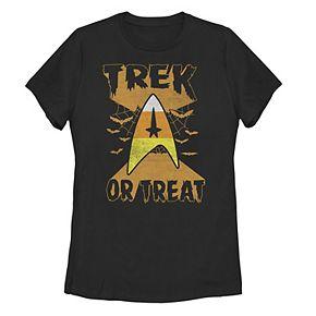 "Juniors' ""Trek Or Treat"" Candy Corn Star Trek Command Badge Tee"