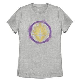 Juniors' Marvel Guardians Spray Paint Stencil Logo Tee