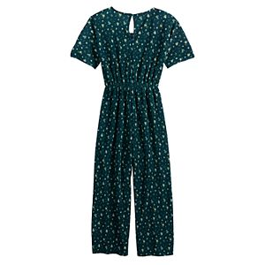 Girls 7-16 Love & Let Love Knot Front Printed Jumpsuit