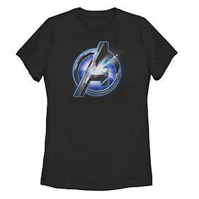 Juniors' Marvel Avengers Endgame Shining Logo Tee