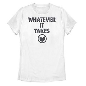 "Juniors' Marvel ""Whatever It Takes"" Stencil Logo Tee"