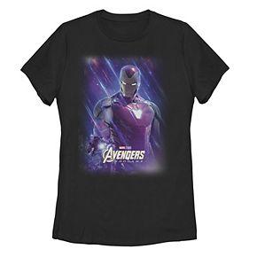 Juniors' Marvel Avengers Endgame Iron Man Space Poster Tee