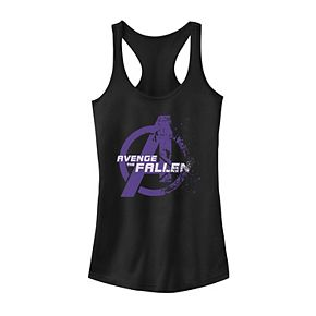 Juniors' Marvel Avenge The Fallen Diminishing Logo Tank
