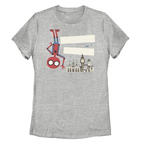 Juniors' Marvel Spider-Man Far From Home Animated Portrait Tee