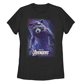 Juniors' Marvel Avengers Endgame Rocket Space Poster Tee