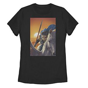 Juniors' Marvel Valkyrie Flying Painting Poster Tee