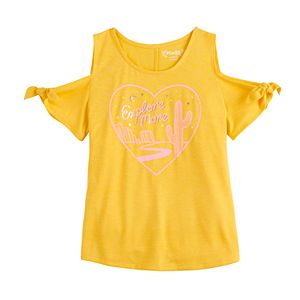 Girls 6-16 & Plus Size Mudd Cold-Shoulder Graphic Tee