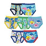 Toddler Boy Baby Shark 7-Pack Briefs