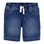 Toddler Boy Carter's Pull On Knit Denim Shorts