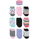 Girls Elli by Capelli 9 Pack No Show Socks