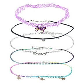 Girl's Elli by Capelli 5 pc Choker Set - Charms