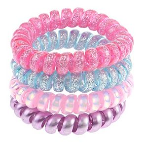 Girl's Elli by Capelli 4 pc Cotton Candy Phone Cord Ponies