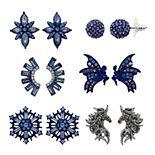 Simply Vera Vera Wang Blue Magical Creature Nickel Free Earring Set