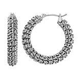 Simply Vera Vera Wang Chain Wrapped Nickel Free Hoop Earrings