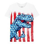 Toddler Boy Carter's 4th Of July Patriotic Dinosaur T-Rex Graphic Tee
