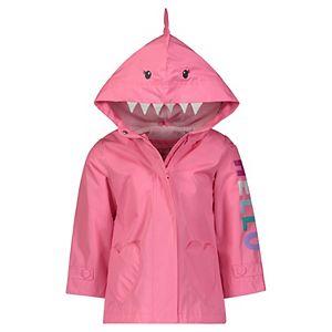 Toddler Girl Carter's Pink Shark Rain Jacket
