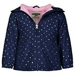 Girls OshKosh B'gosh® Navy Foil Dot Midweight Jacket