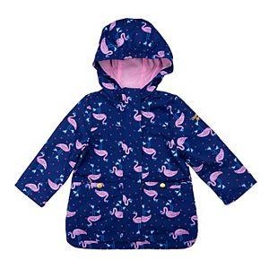 Girls OshKosh B'gosh® Wet to Dry Flamingo Rainslicker