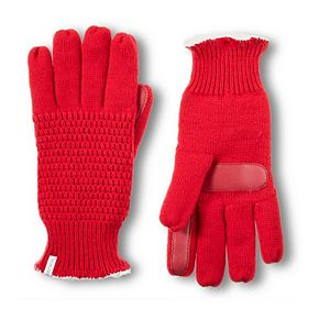 Women's isotoner Solid Knit Gloves with smartDRI & smarTouch Technologies