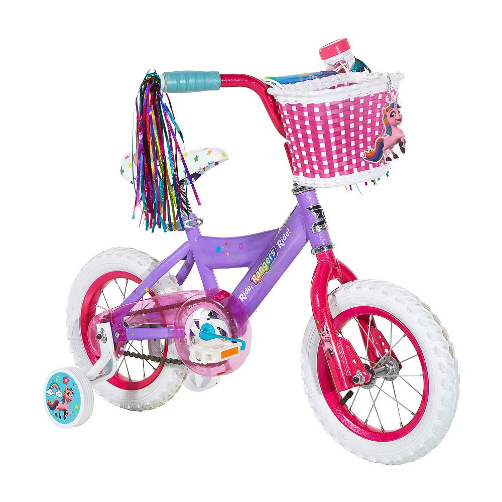 "Girls Rainbow Rangers 12"" Bike with Training Wheels"
