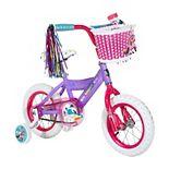"""Girls Rainbow Rangers 12"""" Bike with Training Wheels"""