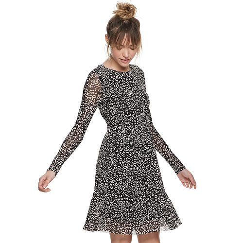 Women's POPSUGAR Printed Mesh Dress