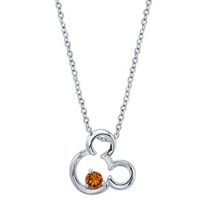 Disney Mickey Mouse Birthstone Necklace